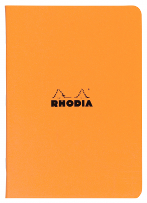 Image of Exercise Book Rhodia Cahier Stapled A4 Lined Orange