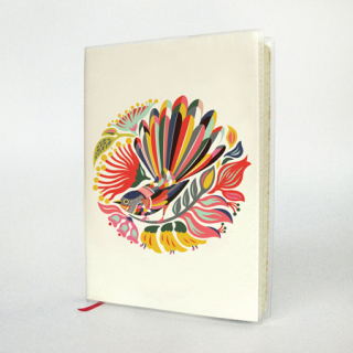 Image of A6 Journal : Colourful Fantail