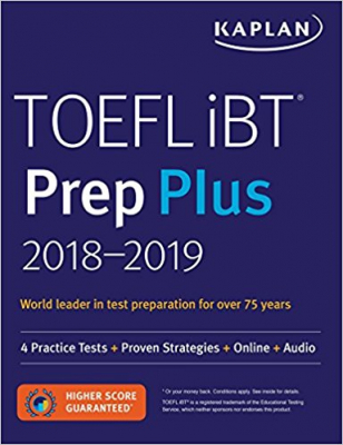 Image of Toefl Ibt Prep Plus 2018 - 2019 : 4 Practice Tests + Proven Strategies + Online + Audio