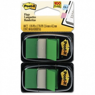 Image of Post It Flags Green 100 Pack