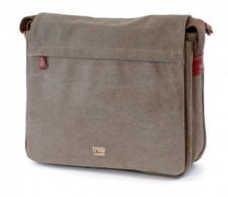 Image of Bag Troop Classic Flap Front Messenger Brown
