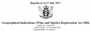 Image of Geographical Indications Wine And Spirits Registration Act 2006 + Amendments