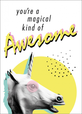 Image of You're A Magical Kind Of Awesome : Greeting Card