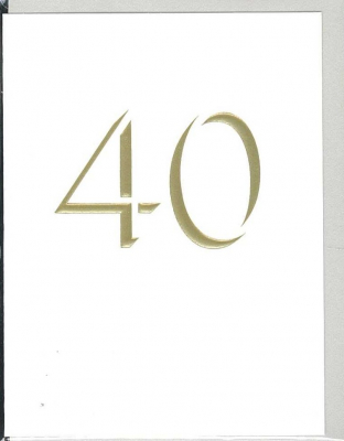 Image of 40th Birthday : Mini Greeting Card