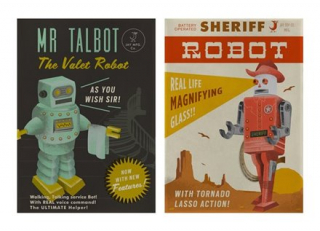 Image of Tea Towels 2 Set : Mr Talbot, Sheriff Robot