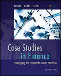 Image of Case Studies In Finance : Managing For Corporate Value Creation