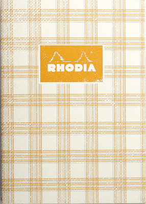 Image of Notebook Rhodia Heritage Sewn Spine A5 Tartan Ivory