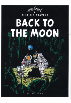 Image of Tintin Back To The Moon : A4 Poster