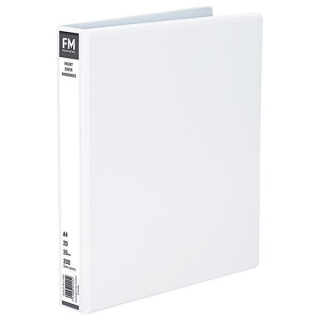 Image of Ringbinder Fm Overlay A4 3/38 White