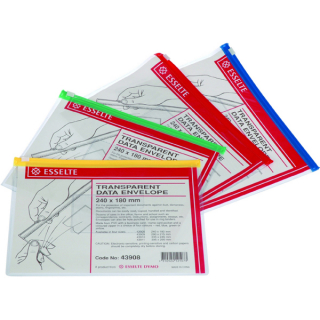 Image of Data Envelope Esselte 240 X 180mm Transparent