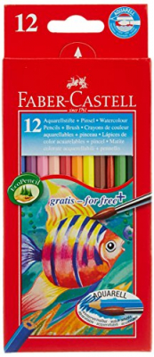 Image of Coloured Pencils Faber Castell Aquarell 12 Pack