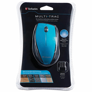 Image of Verbatim Wireless Mouse Multi Track Blue
