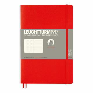 Image of Journal Leuchtturm 1917 Softcover B6 Dotted Red