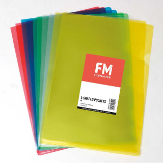 Image of File L Shaped Pockets Assorted 10 Pack