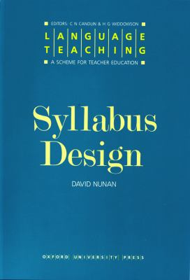 Image of Syllabus Design : Language Teaching : A Scheme For Teacher Education