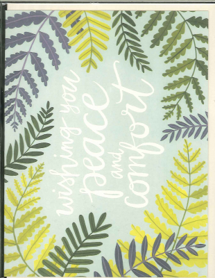 Wishing You Peace And Comfort : Greeting Card