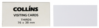 Image of Visiting Cards Collins Thirds 76 X 38mm 52 Pack
