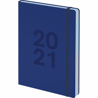 Image of Diary 2021 Collins A5 Edge DTP Blue