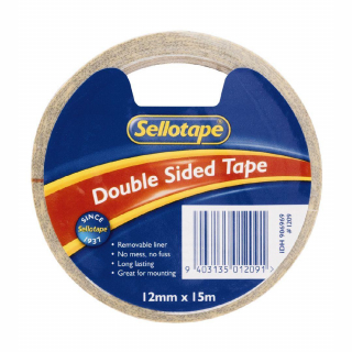 Image of Tape Sellotape Double Sided Roll 12mm X 15m
