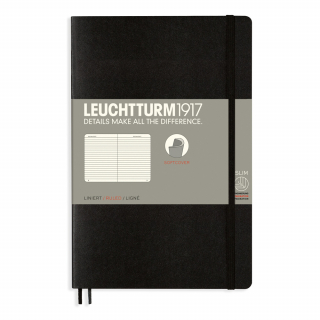 Image of Journal Leuchtturm 1917 Softcover B6 Lined Black