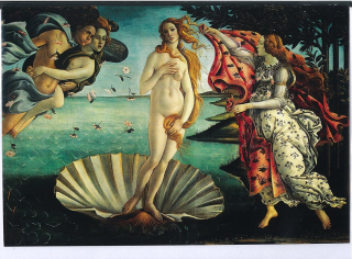 Image of Birth Of Venus By Botticelli : Greeting Card