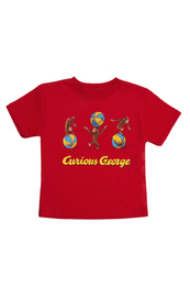 Image of Curious George : Children's T-shirt Red 8yr