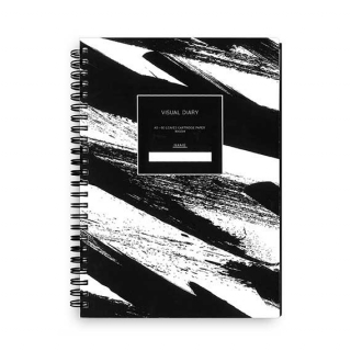Image of Visual Diary Kurtovich A5 Black & White