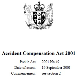 Accident Compensation Act 2001 : Reprint As At 31 January 2018