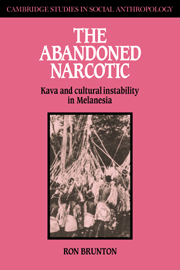 Abandoned Narcotic : Kava And Cultural Instability In Melanesia