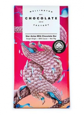 Image of Star Anise Milk Chocolate Bar : Wellington Chocolate Factory