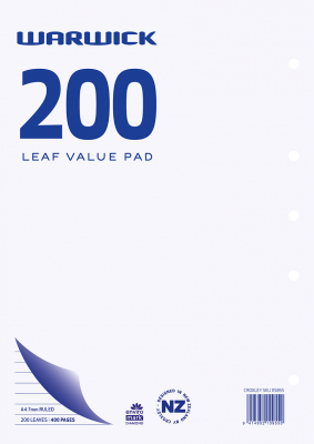 Image of Refill Warwick Value 200 Leaf A4