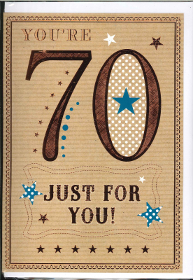 Image of You're 70 Just For You : Greeting Card