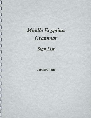 Middle Egyptian Grammar Sign List
