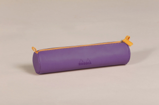 Image of Pencil Case Rhodiarama Round Purple