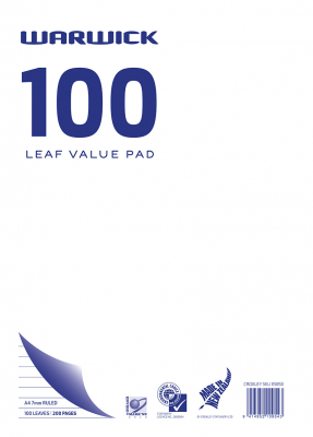 Image of Refill Warwick Value 100 Leaf A4