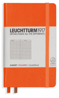 Journal Leuchtturm 1917 Pocket Squared Orange