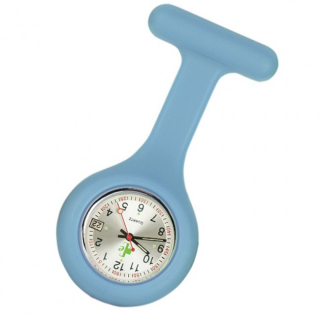 Image of Silicone Fob Watch Date Function : Light Blue