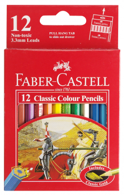 Image of Coloured Pencils Faber Castell Classic Half Length 12 Pack