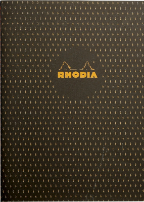 Notebook Rhodia Heritage Sewn Spine A5 Moucheture Black