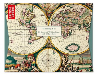 Image of Writing Set - Museums & Galleries World Map Hemisphere