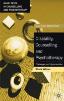 Image of Disability Counselling And Psychotherapy : Challenges And Opportunities