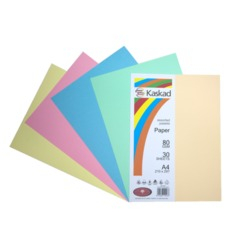Image of Board Kaskad Assorted Pastels A4 225gsm 12 Sheets