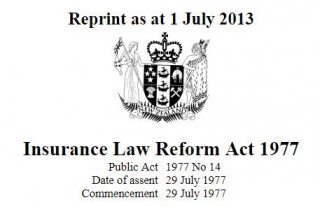 Insurance Law Reform Act 1977 : Reprint July 2013