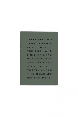 Image of Get Sh*t Done Notebook : Manifesto A5 Khaki And Black Foil