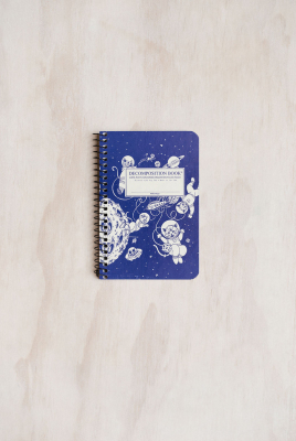 Decomposition Spiral Notebook Pocket Ruled Kittens In Space