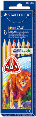 Image of Coloured Pencils Staedtler Noris Club Jumbo 6 Pack