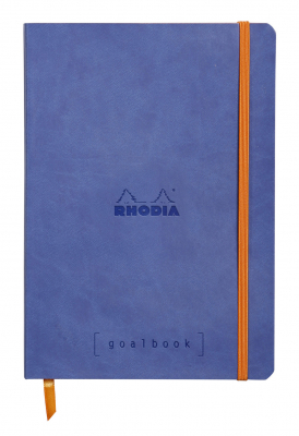 Image of Notebook Rhodiarama Goalbook A5 Dot Sapphire