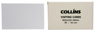 Image of Visiting Cards Collins Reduced Small 90 X 55mm 52 Pack