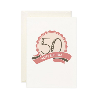 Image of 50 Happy Birthday : Greeting Card