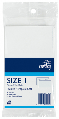 Image of Envelopes Croxley Size 1 20 Pack